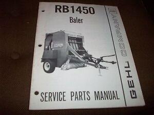 gehl 1470 round baler operators manual