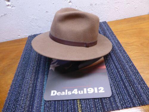 Pendleton 100% Virgin Wool Hat Brown Fedora A199-722 Leather Band Men
