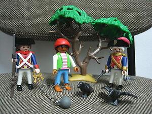 Playmobil-Piratas-Oficial-y-Soldado-con-Pirata-Prisionero-3113-COMPLETO