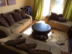 Couch set - 3 large pieces including all cushions