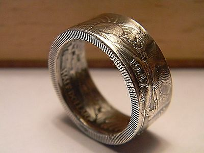 1947 Walking Liberty Silver US half Dollar  handmade coin ring size 6-13
