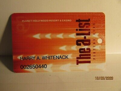 Planet Hollywood Casino Hotel-The A-List Slot Card - very  nice