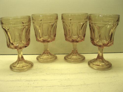 Vintage Anchor Hocking Fairfield Amber/Honey Gold On the Rocks Goblets Set of 4
