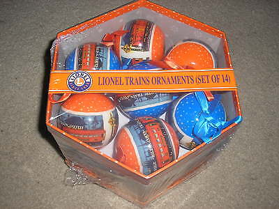 New Factory Sealed Lionel Trains Ornaments Set Of 14 In Collectible Box