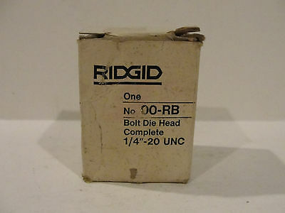 Ridgid No. 00-rb Bolt Die Head Complete 14-20 Unc
