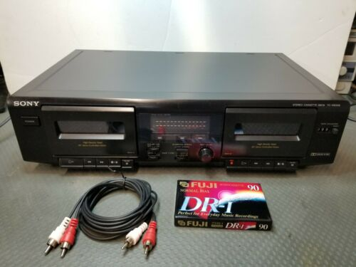Sony TC-WE305 Dolby Stereo Dual Cassette Tape Deck Player Recorder High Speed