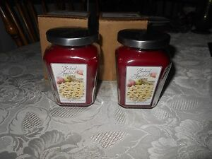 celebrating home interiors set 2 baked apple pie jar candles 7 5 oz nib ebay