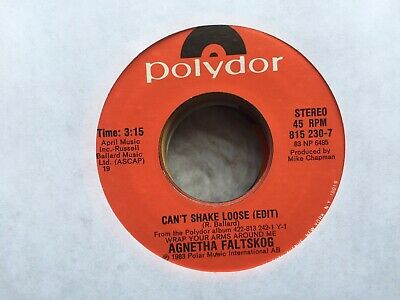 AGNETHA FALTSKOG (Abba) / CAN'T SHAKE LOOSE b/w MAN / 45 RPM  / NEAR MINT