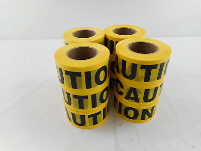 Cordova Pro Pack Yellow Caution Barricade Tape, 3 in. x 1000 ft. Roll Pack of 12
