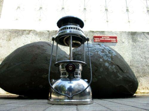 VINTAGE IN BRASS NIQUEL LAMP LANTERN PETROMAX HIPOLITO 250 PRESSURE KEROSENE