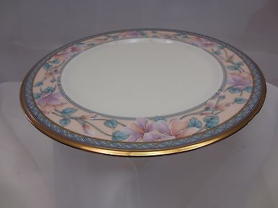 Noritake Fine Bone Embassy Suite Salad Luncheon Plates 9756 Blue Pink Gold