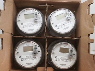 Lot Of 4 Ge I-120ce Itron Ssi 1210 1x Wireless Smart Watthour Meter Cl200 240