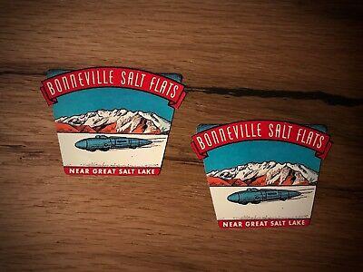 2x Salt Flats Aufkleber Bonneville So Cal STP 76 USA Hot Rod Racing Rocket #267 - Bonneville Salt Flats