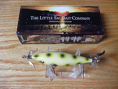 Little Sac Bait Co Niangua Minnow Glasseye Lure in Albino Frog Color NIB