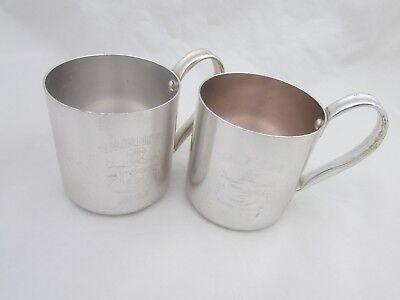 SMIRNOFF Mugs Cups MULE Set of 2 Aluminum Pre owned