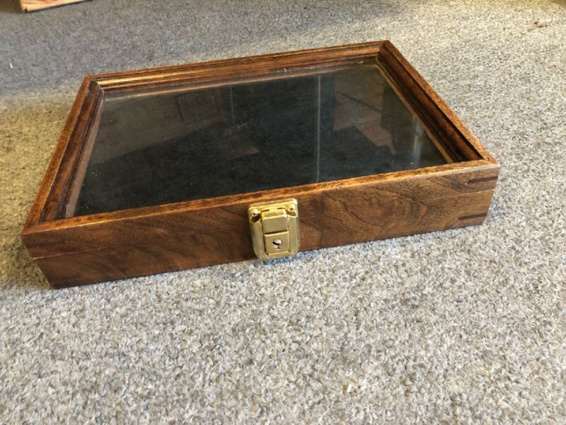 Wooden Display Case Comes With A Key!