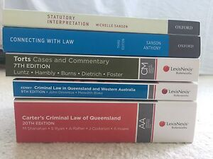 QUT Law (Torts, Introduction to Law and Criminal Law) Textbooks New Farm Brisbane North East Preview