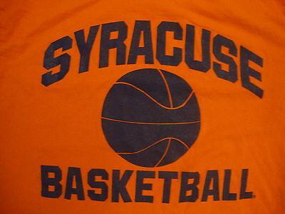 Ncaa Syracuse Orange College University School Basketball Fan Orange T Shirt L
