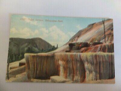 Yellowstone postcard - Acmegraph -  6527 Pulpit Terrace