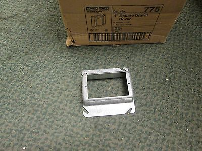 Raco 4 Square Drawn Cover 775 Raised 1-14 Single Gang Box Of 25 New Surplus