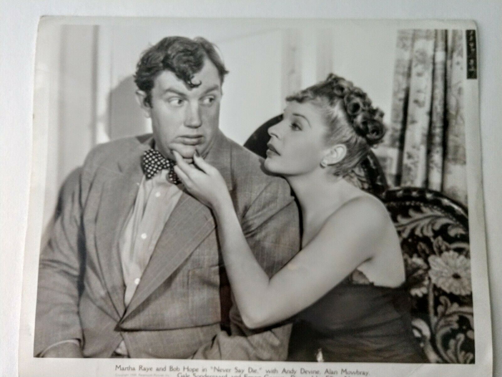 Publicity Photo From Never Say Die Starring Bob Hope, Martha Raye 1939 - $25.00