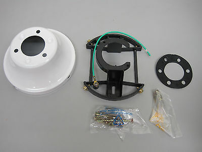 FLUSH MOUNT KIT W/ CANOPY, MOUNTING BRACKETS/SCREWS, & RUBBER PADS #:PS-3022-WH - Flush Mount Canopy