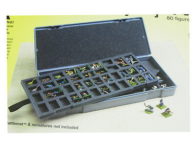 Miniature Carrying Case - Chessex Large Figure Storage Box and Carrying Case - 80 Miniatures Capacity
