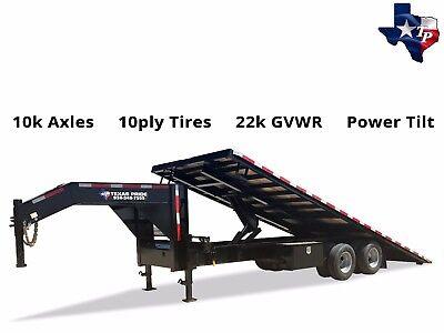 Brand New Texas Pride 8.5 X 25 Hydraulic Power Tilt Trailer 22k Gvwr