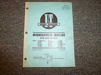 Minneapolis Moline G900 G950 G1000 Vista G1050 G1350 Tractor Flat Rate Manual