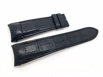 Greubel Forsey Uhrenarmband Leder Schwarz 24 mm