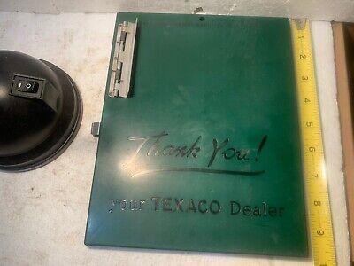 Vintage TEXACO Gas Station Plastic Clip Board Credit Card Holder