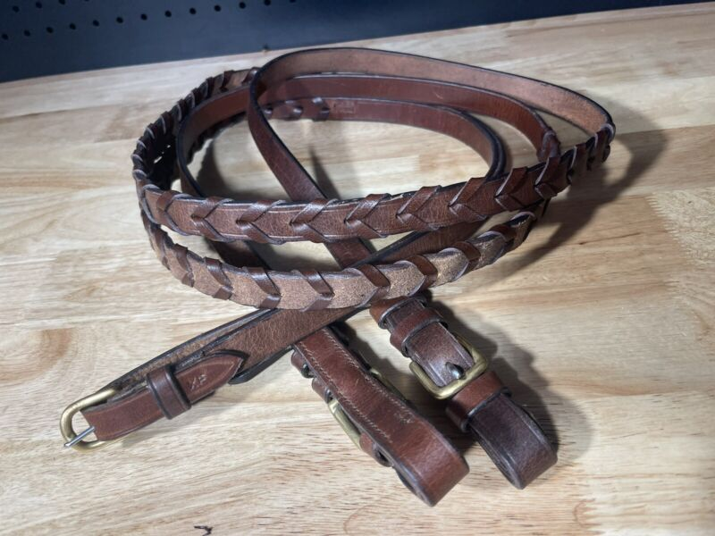 """Leaders Laced Leather Reins ~ Great Quality! Brown 69"""""""