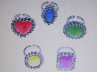 36 RHINESTONE RINGS girls princess DIVA party favors BIRTHDAY PARTY BLING (Diva Party)