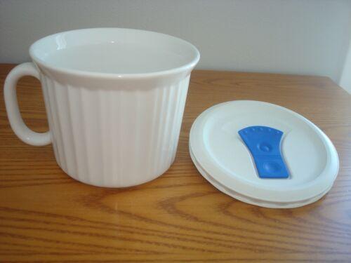 CorningWare 20 oz Pop-In White Soup Meal Microwave Mug w/ Vented Lid