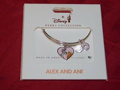 Disney Parks ALEX & ANI Bracelet LADY AND THE TRAMP Silver Tone Bangle - NEW