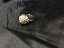 Rose Gold Plated Crystal Encrusted Sphere Dress Ring South Albury Albury Area Preview