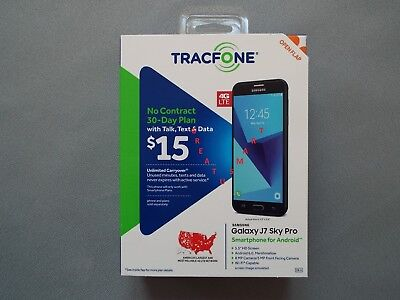 Tracfone Samsung Galaxy J7 Sky Pro 4G Lte W 6 Months 1000Min 1000Text 1000M Data