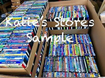 KIDS 15 DVD LOT ASSORTED RANDOM! Children's Movies & Tv Shows! WHOLESALE PRICES