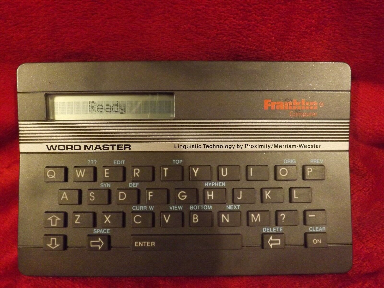 FRANKLIN WORDMASTER WM-1000 1980'S MERRIAM-WEBSTER CONCISE ELECTRONIC DICTIONARY