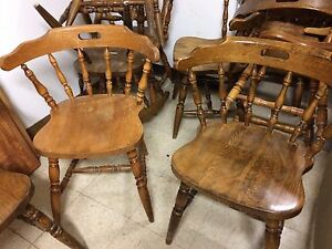 Lot of 40 to 45 wooden chairs