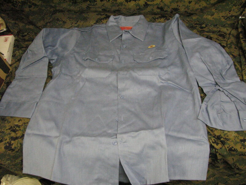 welding shirt flame retardant 100% cotton fire resistant FR usa new LARGE LONG