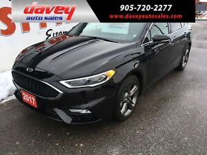 2017 Ford Fusion V6 Sport ALL WHEEL DRIVE, SUNROOF, NAVIGATION