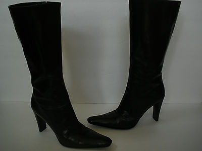 $380 VIA SPIGA LEATHER FASHION HI HEEL BOOT US 5.5 SEXY GORGEOUS MADE IN ITALY @