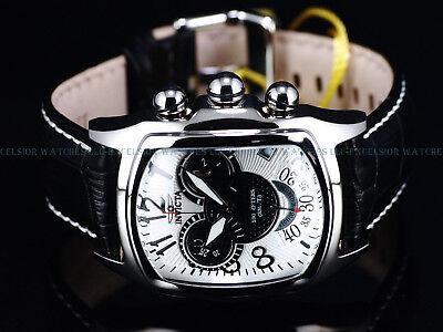 New Ltd Ed Invicta 43mm Dragon Lupah Swiss ETA Chronograph Leather Strp SS Watch