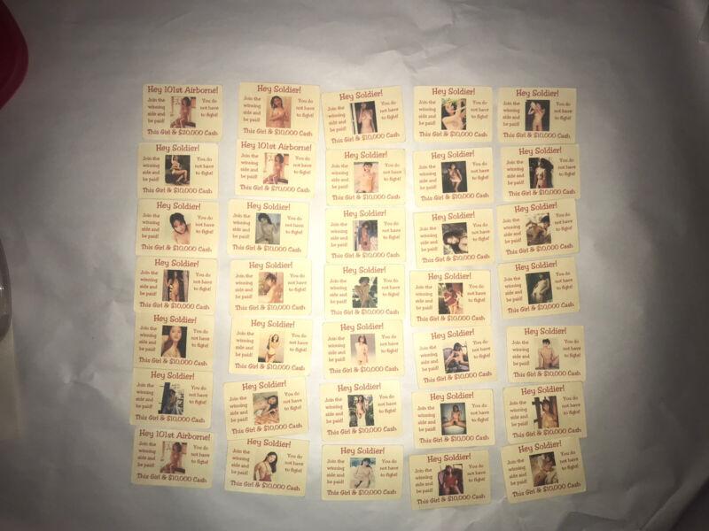 VIETNAM WAR PROPAGANDA lot of 35 ORIGINAL CARDS collection