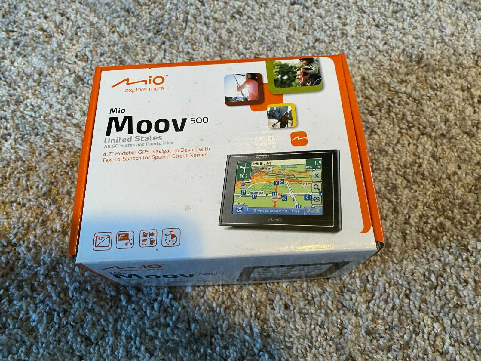 Mio Moov 500 Portable GPS Navigation Device Automotive Mountable - $28.00