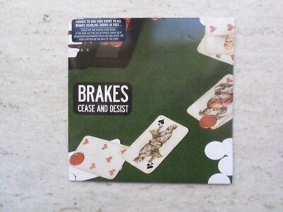 "BRAKES ""CEASE AND DESIST""/""WE SAW JERRY'S DAUGHTER"" LTD EDITION VINYL 7"" SINGLE"