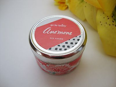 NEW Illume Go Be Lovely Anemone Soy Candle Travel Tin 10 Hour Burn Time