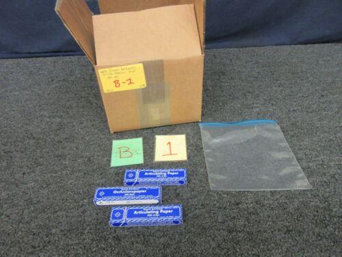 600 Sheets Bausch Dental Articulating Paper Occlusion Marking Blue BK09 Bulk Lot