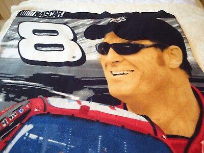 Nascar Dale Earnhardt Jr. #8 BUD Fleece Blanket Throw 48
